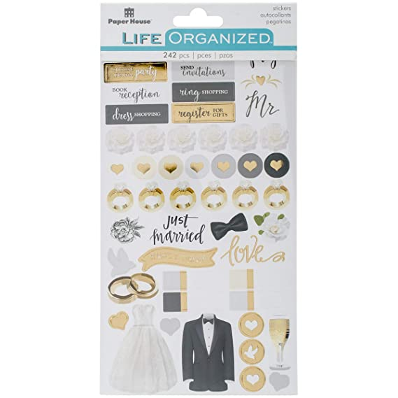 Paper House Productions STPL-0010 Budget Functional Planner Stickers, 3-pack, 3 Piece