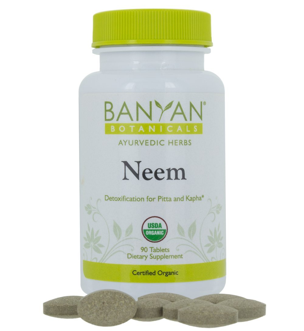 Banyan Botanicals Neem Tablets - USDA Organic - Azadirachta indica - Ayurvedic Herb for Skin & Blood*