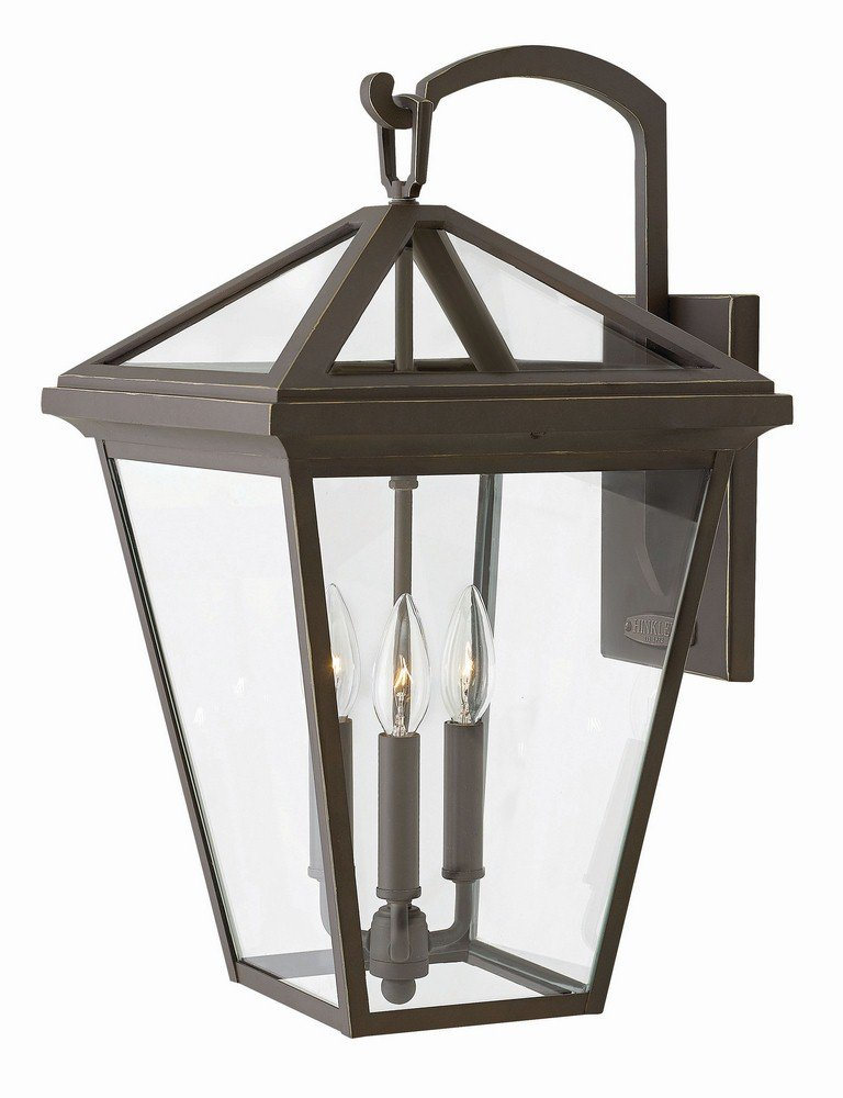 Hinkley 2565OZ Transitional Three Light Outdoor Wall Mount from Alford Place collection in Bronze/Darkfinish,