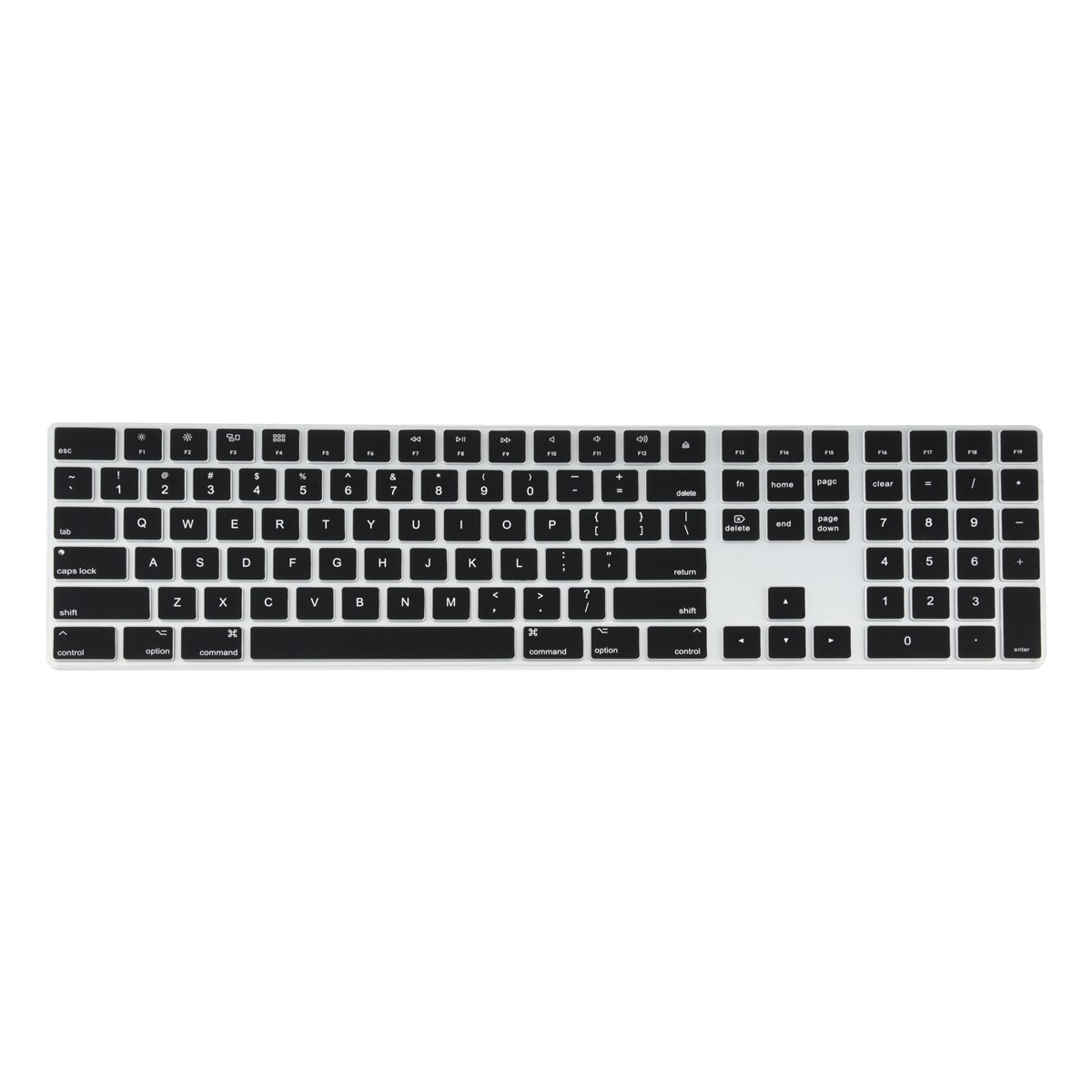 All Inside Ombre Gray Cover For Apple Imac Magic Keyboard With Numeric Keypad Mq052ll A A1843 Us Layout