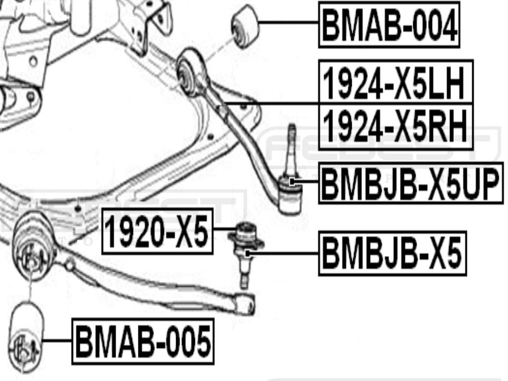 Oem 31126769715 Febest Bmw Arm Bushing Front Lower Arm