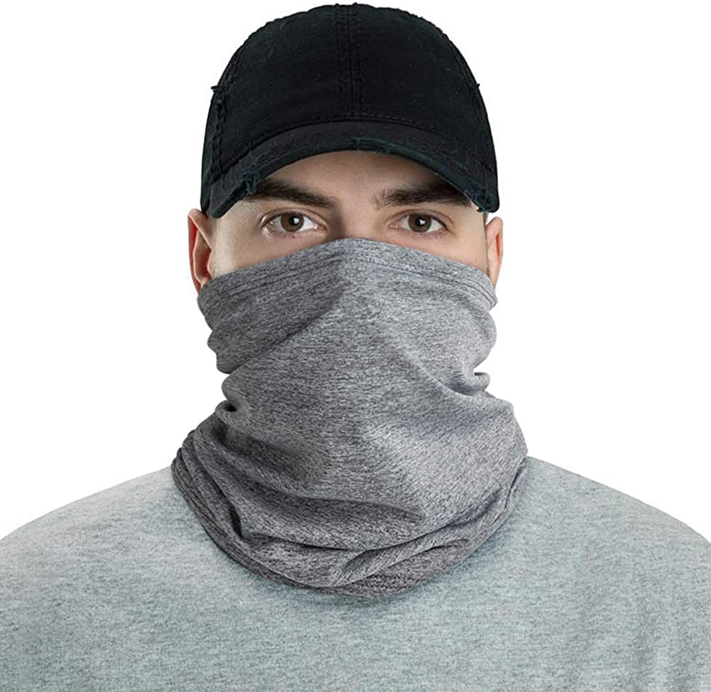 LUNGEAR Bandanas Cooling Neck Gaiter Headbands Headwear Balaclava Seamless Elastic Tube Face Scarf Outdoors for Men and Women