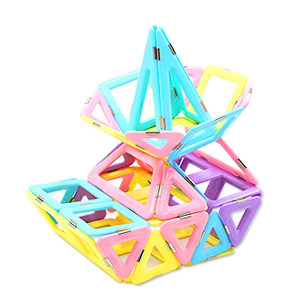ZnMig Children 3-12 Years Old Educational Toys Assembled Building Blocks Magnet Building Blocks Magnetic Toys Early Education Puzzle Building Blocks Toys (Color : Multi-Colored, Size : One Size)
