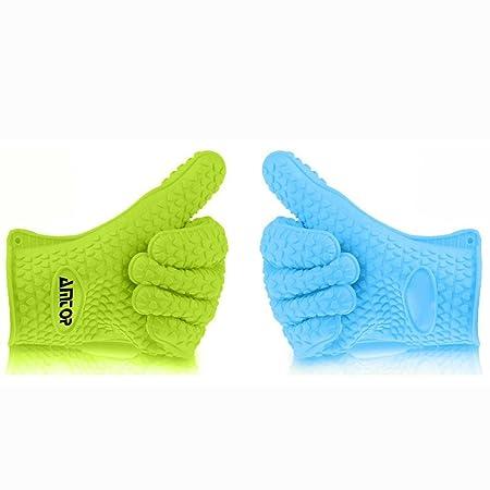 Mixed Color mejor horno de silicona resistente al calor y guantes ...
