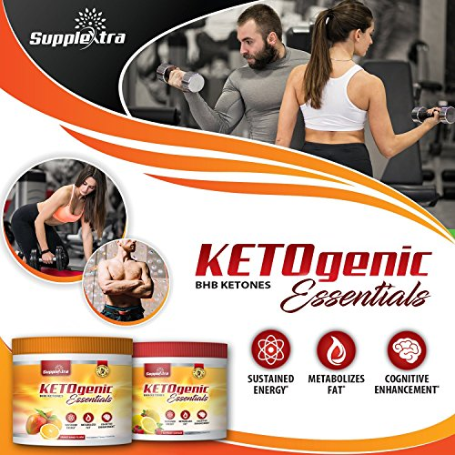 Ketogenic Essentials - BHB Ketones - Zero Sugar, Zero Carbs, Zero Caffeine - inch and Weight Loss - Raspberry Lemonade by Supplextra