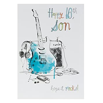 Hallmark 16th Birthday Card For Son Hope It Rocks