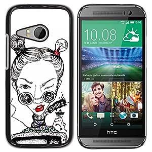 - Funny Face - - Caja del tel???¡¯????fono delgado Guardia Armor FOR HTC ONE MINI 2 / M8 MINI Devil Case