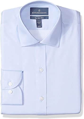 Buttoned Down Tailored Fit Button Collar Solid Non-Iron Dress Shirt Camisa 17 Neck 35 Sleeve Rosa Light Pink Talla del fabricante: :