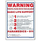 Poolmaster Sign for Residential or Commercial Swimming Pools, Basic Life Support