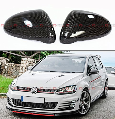 Cuztom Tuning 1:1 Direct Replacement Carbon Fiber Side Mirror Cover For 2015-2018 VW Golf 7 Mk7 GTI GTD R VII E-Golf Golf Gti Carbon