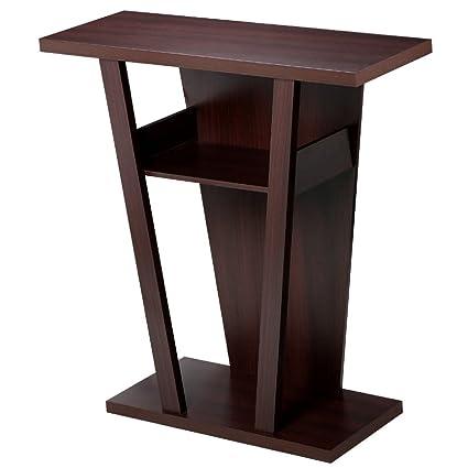 New Espresso Wood Hallway Table Bookshelf Entry Console End Sofa Accent Modern Hall Furniture