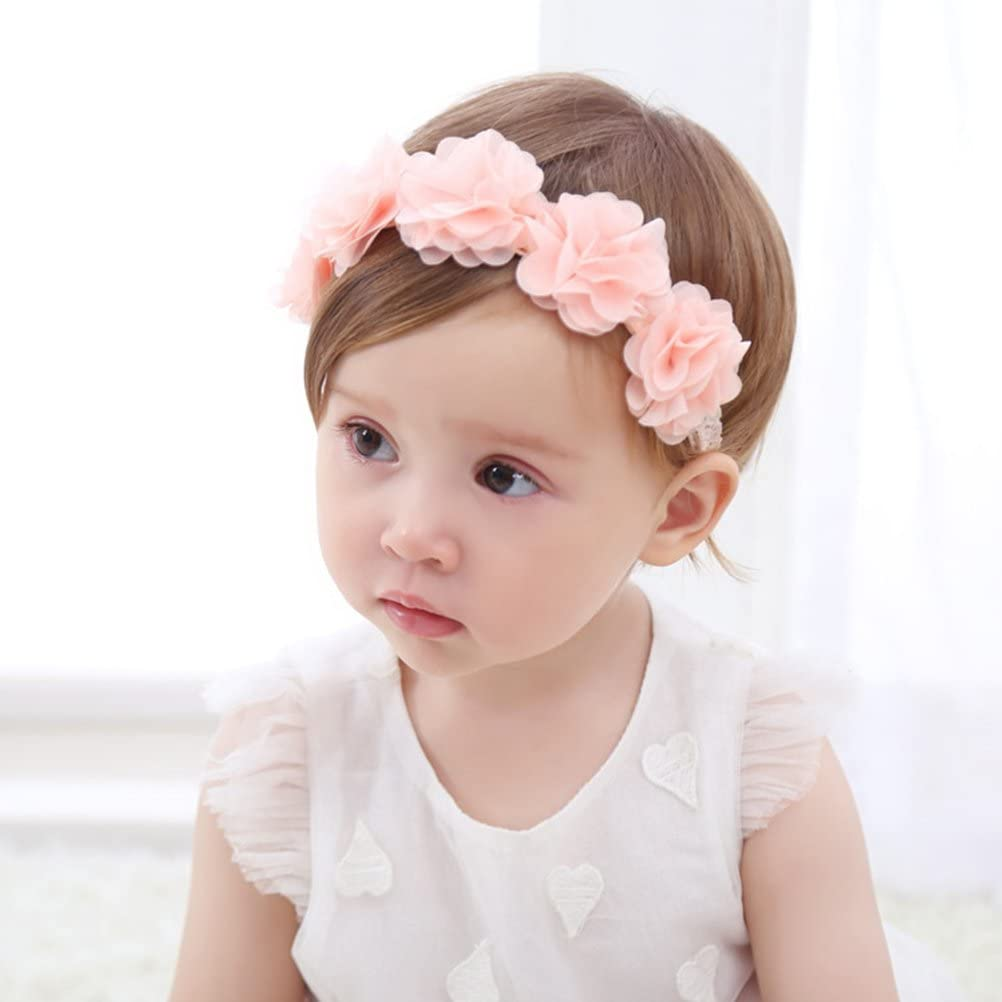 NEW Pink floral rose print with bow headband bandeaux womens girls fashion