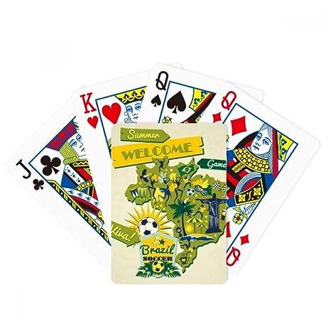 Welcom Brasil - Juego de cartas de fútbol de verano para ...