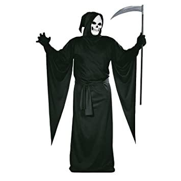 Tante Tina Henker Sensenmann Halloween Kostum Mit Kapuze Henker