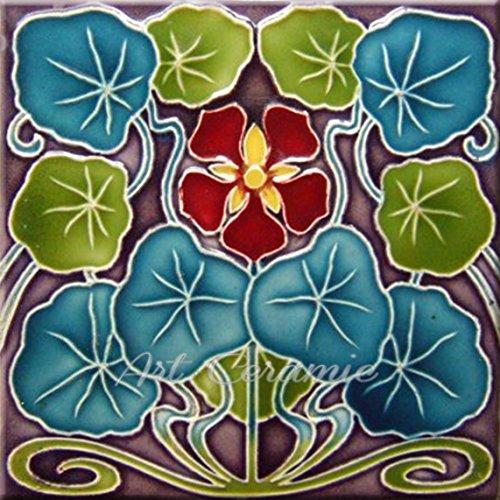 - Art Nouveau Ceramic Tile 6 Inches Reproducction #307