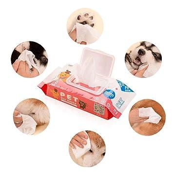FOONEE Toallitas para Mascotas, desodorizantes, hipoalergénicas, sin Fragancia, orgánicas, antibacterianas, para Limpieza Facial, Ojos, Orejas, pajitas, ...