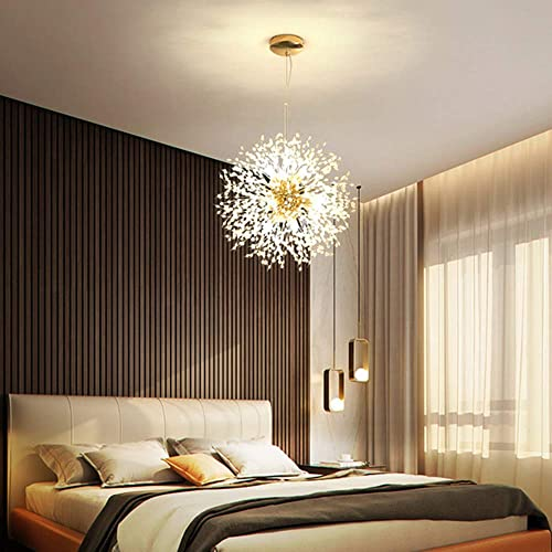 BAYCHEER Crystal Chandelier 8 Lights Modern Pendant Light Fixture 24W Firework LED Fixtures G9 LED Ceiling Pendant Lamp