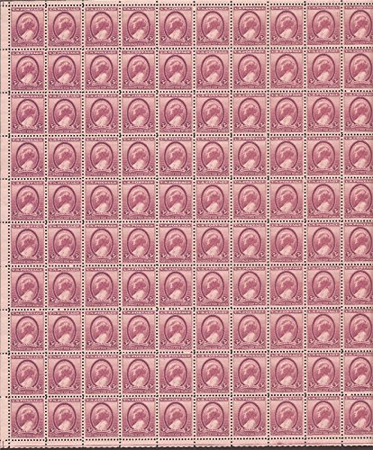 Susan B Anthony Womens Suffrage Sheet Of 100 X 3 Cent Stamps Scott 784