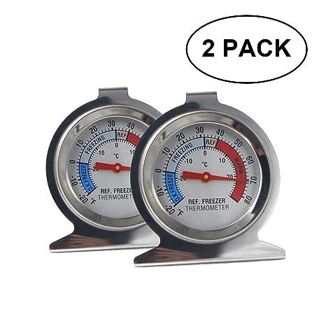 MLIN-KELy termómetro para nevera, acero inoxidable, impermeable ...