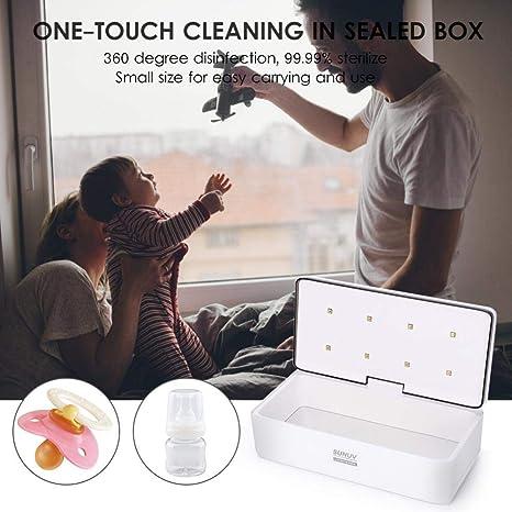 Limpiador de Botellas, Caja Inteligente de Desinfección UV Incluye Recordatorio de voz LED Para Pincel de Maquillaje, Herramienta de Manicura y Cepillo de ...