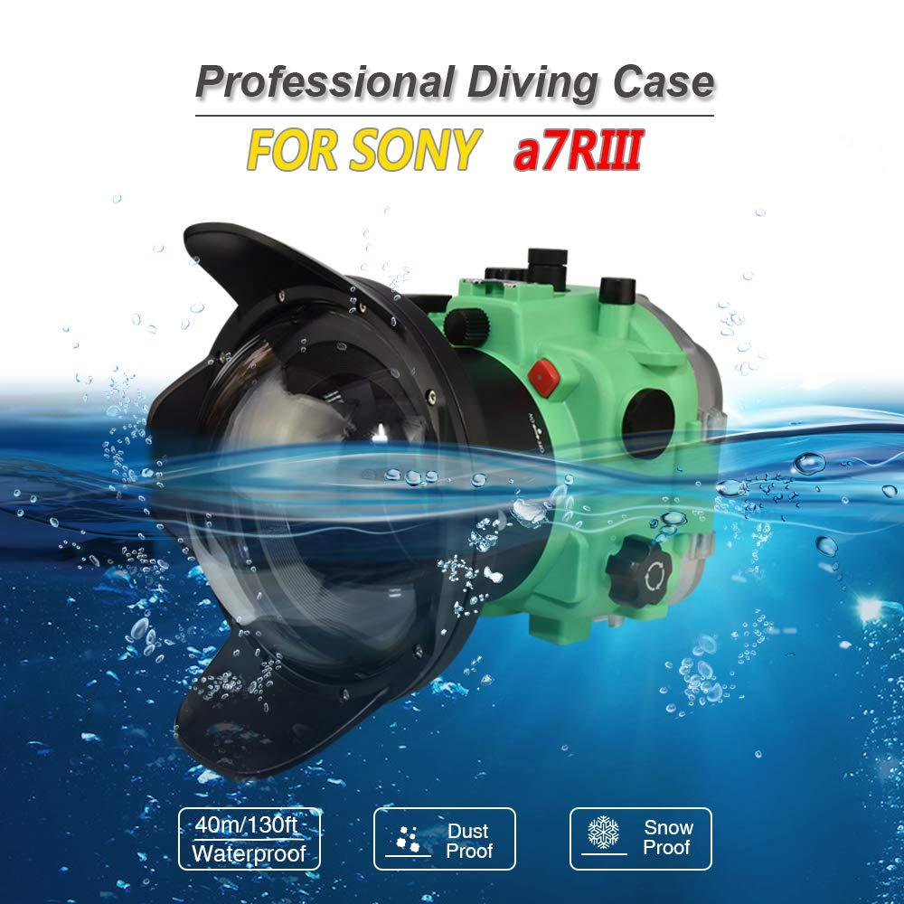 Carcasa para cámara submarina Sony A7R III con Lente Ojo de ...