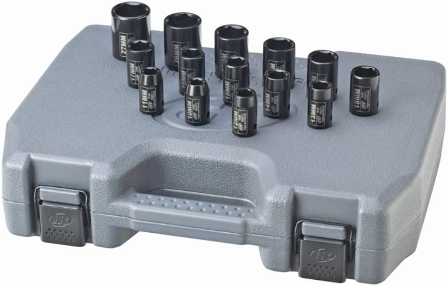 "Ingersoll-Rand 14 Piece Laser Etched 1//2/"" Drive Metric Socket Set SK4M14"