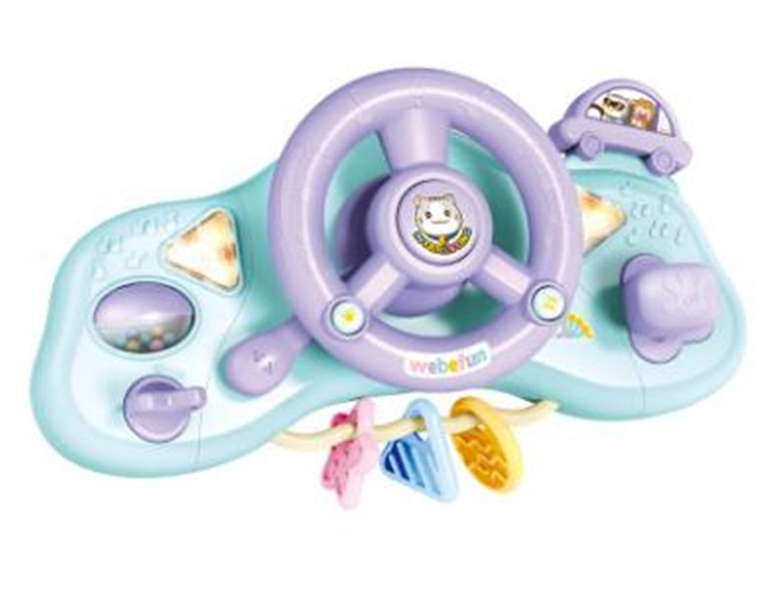Tmrow 1pc Kids Steering Wheel with Lights, R.N.D, Music and Sound Educational Toy