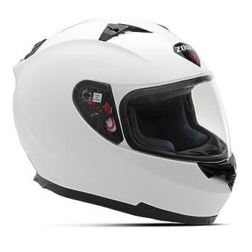 Zoan Blade SV - Casco de moto con visera para el sol, color blanco brillante