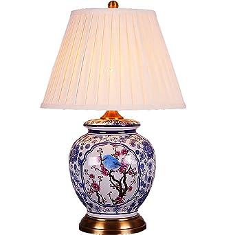 Shuang Keramik Tischlampe Fdui302 Chinesischen Mandarin Stil