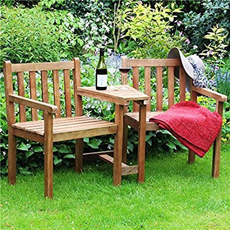Excellent Billyoh Jack N Jill Tete A Tete Wooden Companion Love Seat Garden Bench Bralicious Painted Fabric Chair Ideas Braliciousco