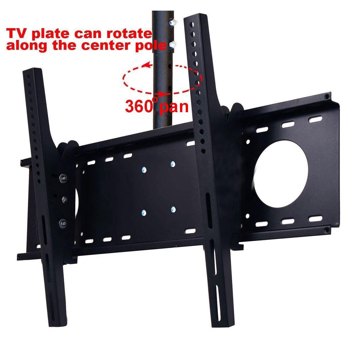 VideoSecu LCD Plasma Flat Panel TV Ceiling Mount Bracket for Most 37-60'' Plasma TV Flat Panel Displays, Some up to 75'' LED TV with VESA 200x200 400x400 600x400 680x460mm MPC53B 1S5 by VideoSecu (Image #2)