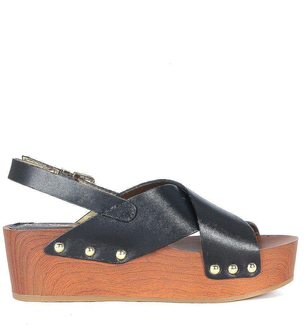 9e1959839f9 Sam Edelman Women s Bentlee Leather Wooden Clog Platform Sandals   Amazon.co.uk  Shoes   Bags