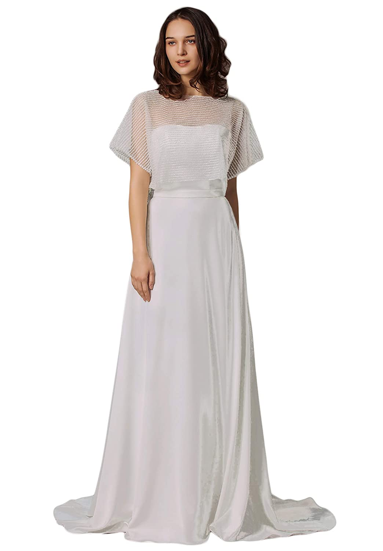 d34d0d5584a Special Bridal Beach Wedding Dress Chiffon Tulle Lace Bridal Gown A line  Dress