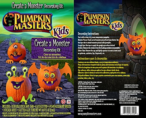 Pumpkin Masters Kids Create A Monster Decorating Kit, 1 (Halloween Pumpkin Decorating Stencils)