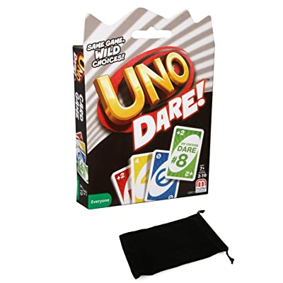 Uno Dare Card Game Bundle with Drawstring Bag: Toys & Games