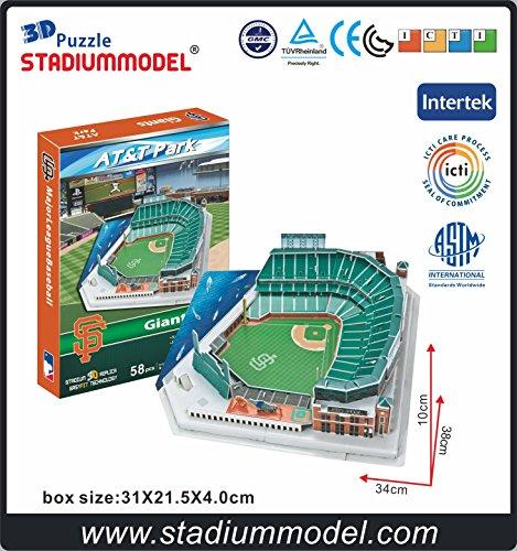edda8910646 MajorLeagueBaseball MLB San Francisco Giants Home AT T Center Stadium 3D  Puzzle Model Paper