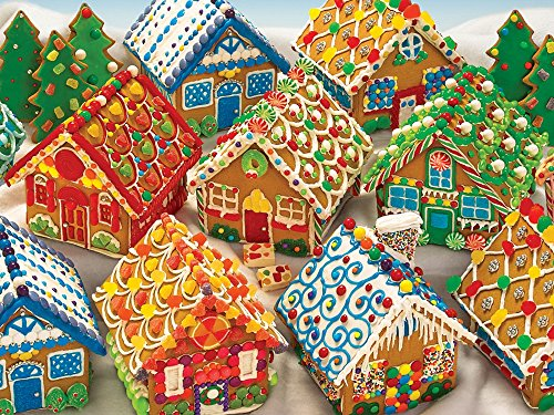 Free Gingerbread Houses, A 400 Piece Jigsaw Puzzle by Cobble Hill