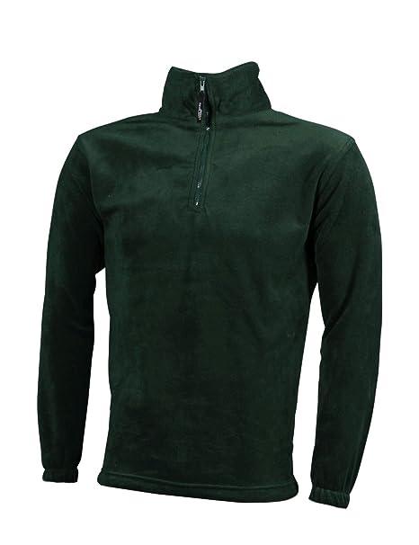 Sudadera Hombre Deporte con Cuello Alto en vellón con Media Cremallera Suéter Sweat-Shirt Hoodies Talla S a la 3XL: Amazon.es: Ropa y accesorios