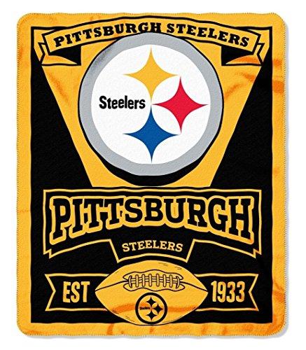 """50"""" x 60"""" Marque Fleece Throw Blanket Blanket: NFL Pittsburgh Steelers"""