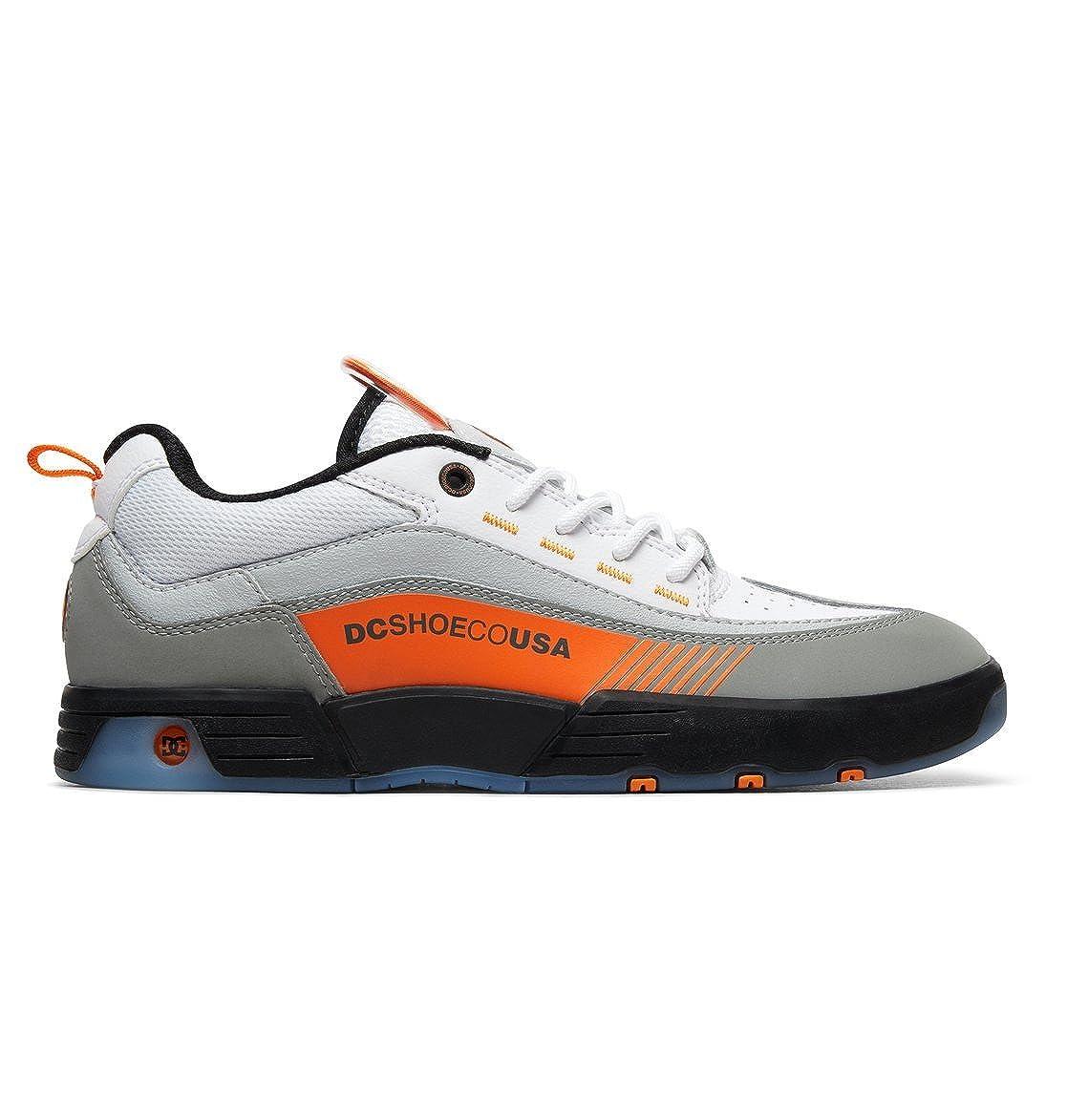 schwarz Weiß Orange DC schuhe Legacy 98 Slim - Schuhe für Männer ADYS100445