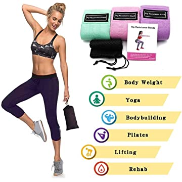 Kikole Durable Band Elasticity Straps Anti-Slip Gym Fitness Exercises Resistance Band Exercise Bands
