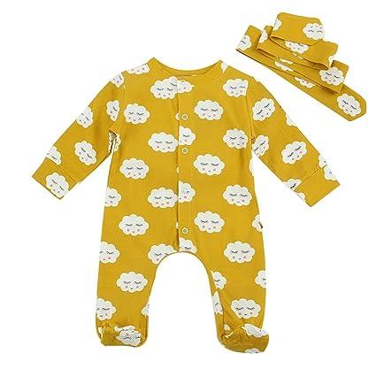 423780f4f Puseky Newborn Infant Baby Cute Cloud Romper Jumpsuit Sleepsuit ...