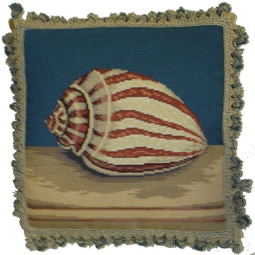 (Deluxe Pillows Tiger Shell - 18 by 18 in. needlepoint pillow)