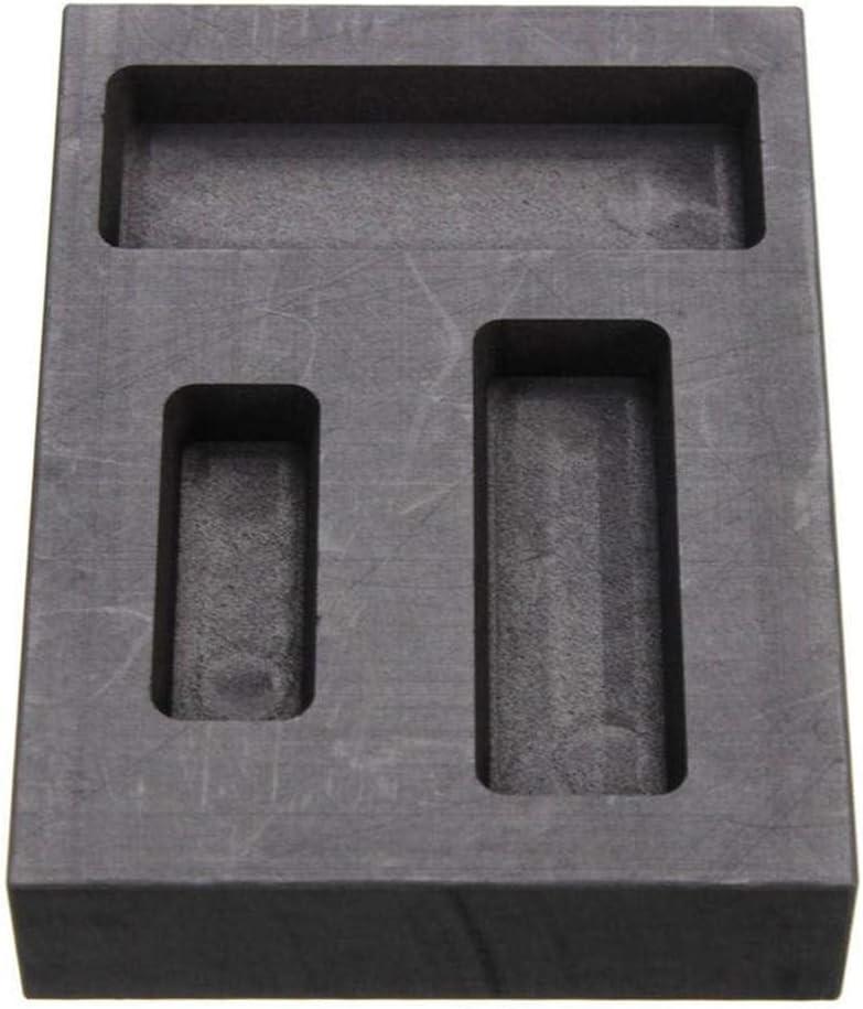 Yunt-11 Moule de Lingot de Graphite 3 Types Barre de rebut de raffinage en m/étal de Lingot de Moulage de Graphite pour Le m/étal argent/é dor