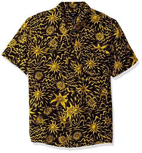 Quiksilver Men's NINGALOO Reef Woven TOP, Black Desert Tripper, M ()
