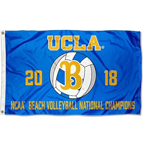 College Flags And Banners Co UCLA Bruins Womens Beach Volleyball 2018 National Champions Flag