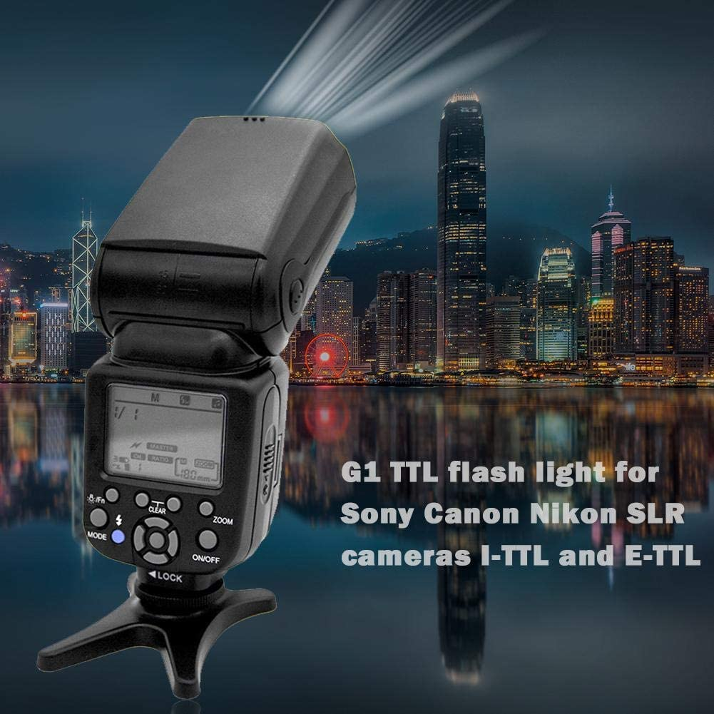 G1 TTL Universal Camera Flash Speedlite Light for Canon Nikon I-TTL E-TTL