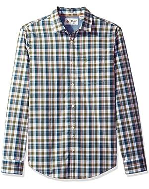 Men's Long Sleeve P55 Jaspe Plaid