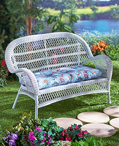 42u0026quot; Outdoor Loveseat Cushion (Blue ...