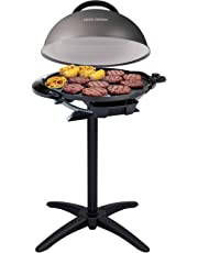 """George Foreman 240"""" Nonstick Removable Stand Indoor/Outdoor Electric Grill"""